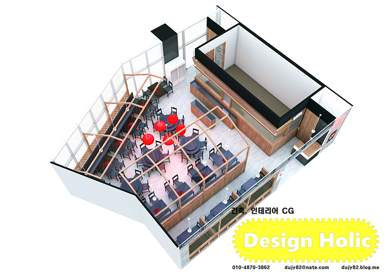 중화요리 백화점 푸드코트매장 중국집 인테리어 아이소메트릭 투시도 3D 외주작업 a.jpg