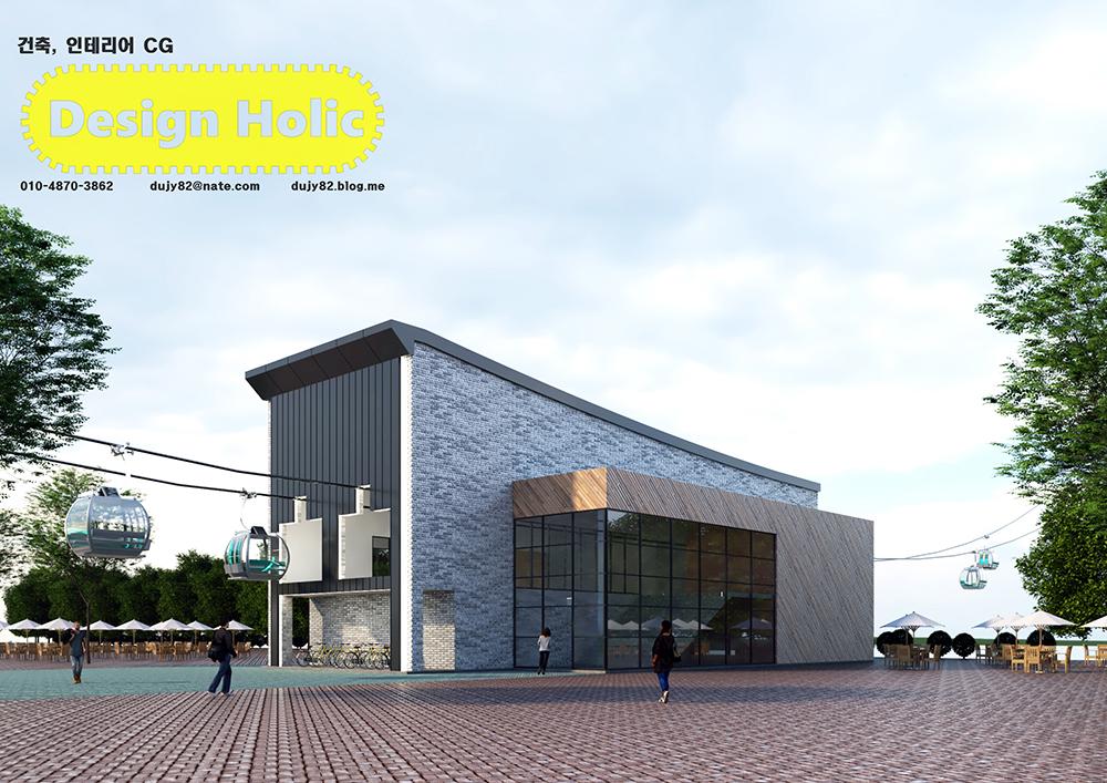 공원 곤돌라 스테이션 건물 3D 투시도 조감도 아이소메트릭.jpg