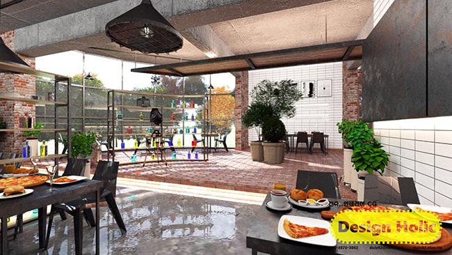 인더스트리얼 컨셉 카페 인테리어 디자인 3d cg 투시도,조감도,아이소메트릭 c.jpg