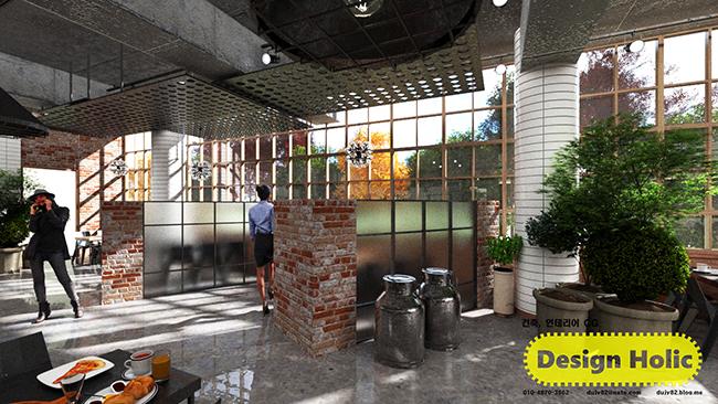 인더스트리얼 컨셉 카페 인테리어 디자인 3d cg 투시도,조감도,아이소메트릭 a.jpg