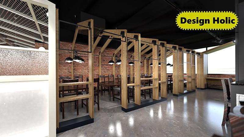 샤브샤브 음식점 인테리어 디자인 3D 투시도 조감도 아이소메트릭 제안서 외주작업 프리랜서 b.jpg