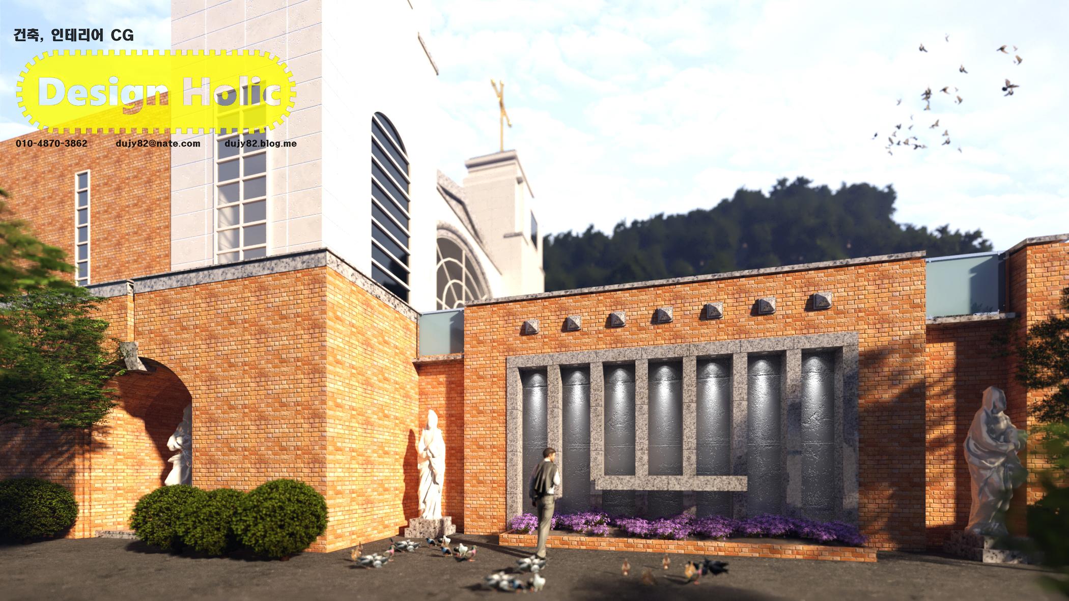 천주교 교회 외부 재단 디자인 3d cg 투시도 조감도 아이소메트릭.jpg