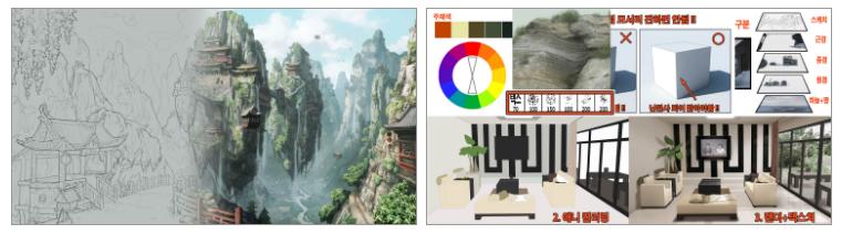 [페느아트학원] 게임 영화 애니메이션 배경원화 컨셉아트 & 매트페인팅 전문학원 - PR - CGlink : 카페-2.jpg