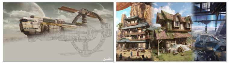 [페느아트학원] 게임 영화 애니메이션 배경원화 컨셉아트 & 매트페인팅 전문학원 - PR - CGlink : 카페-4.jpg